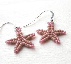 Beadweaving Tutorial No. 19  Starfish Earrings by nemeton on Etsy