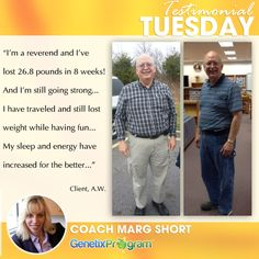 Another great success story in progress. This busy reverend has lost 26.8 pounds in just 8 weeks and he's still going strong! Read the rest of his story here: http://ow.ly/wKAdL