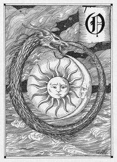 Ouroboros by CoalRye on DeviantArt Oroboros Tattoo, Esoteric Art, Legends And Myths, 1 Tattoo, Occult Art, Mystique, Arte Horror, Weird Art, Book Of Shadows