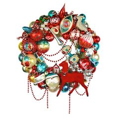 The Beekman Place Wreath: Red Swagger