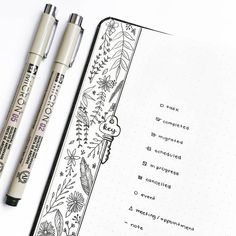 """975 Likes, 26 Comments - • rosana • (@thestudiesphase) on Instagram: """"I added some botanical doodles to my key page bc although they are very simple, they can really…"""""""