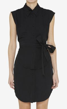 Alexander Wang Black And Dark Navy Dress