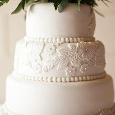 Lace detail cake