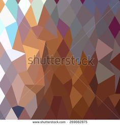 Low polygon style illustration of cocoa brown abstract geometric background. - stock vector #abstractbackground #lowpolygon #illustration