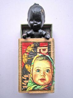 mano kellner, art box nr 309, staunen 1-  bottom R. looks like candy wrapper I have?