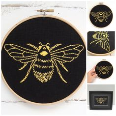 DIY embroidery hoop art kit! Stitch your way to bliss with this bumblebee embroidery kit. A fresh design combined with quality materials and easy-to-follow instructions make this a delightful experien