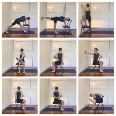 Some chair twists to help improve your spine mobility and back health. These poses are part of the upcoming intermediate class on…