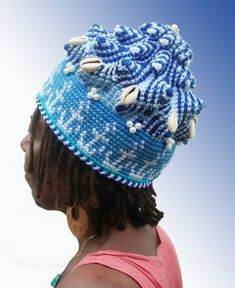 INTRODUCING THE YEMAYAH CROWN FROM THE NEW ORISHA CROCHET CROWN COLLECTION BY XENOBIA BAILEY   XENOBIA BAILEY'S ARTIST JOURNAL