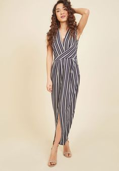 Restaurant Opening Reservation Maxi Dress. A new dinette set to debut? #blue #modcloth