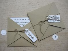 Cute envelopes - love the twine