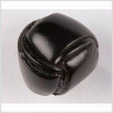 50L/32mm Black Leather Coat Button