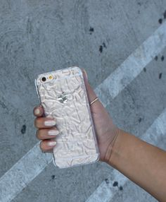 Clear Crystalline Case on Gold iPhone 6