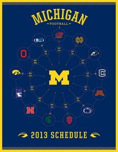 Essential information for your entertainment and success. Michigan Wolverines Football Schedule, College Football Schedule, College Football Teams, Motor City Detroit, U Of M Football, Michigan Go Blue, Go Big Blue, Sport Inspiration, Sports Graphics
