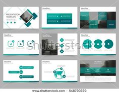 Blue Set Technology Annual Report Brochure Flyer Design Template