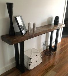 Recycled solid Oregon timber hall console / table made by recycledtimberfurnitureoz.com