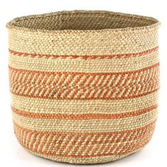 Simply Striped Natural Iringa Basket | VivaTerra