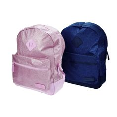 Capezio B212 Shimmer Backpack  Sparkle and shimmer with this glitter backpack. Fully front lined with adjustable foam straps. Front outer zippered pocket for easy storage.  In stock now at www.dancinginthestreet.com Purple Fabric, Glitter Fabric, Dance Bags, Dance Accessories, Dance Tights, Wrist Warmers, Easy Storage, Inspirational Gifts, Dance Wear