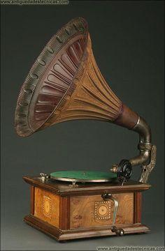 Gramófono Alemán Marca Odeon, Circa 1920