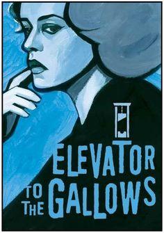 Poster for Elevator to the Gallows (Ascenseur Pour l'Échafaud) (Dir. Louis Malle, 1958)