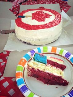 This friendly Canada Day cake from an American to his Canadian friends: | The 23 Greatest Pranks Pulled In 2013