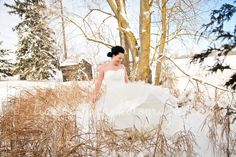 Awesome winter trash the dress shoot!