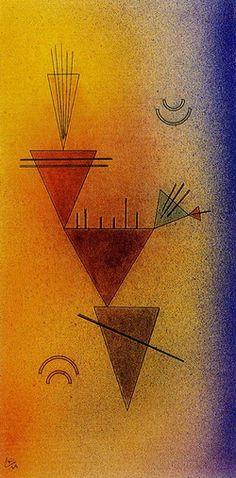 Little Game by Kandinsky.After his return to Germany Kandinsky received an… Wassily Kandinsky, Klimt, Henri Matisse, Abstract Words, Abstract Art, Art Moderne, Art Abstrait, Art Plastique, Oeuvre D'art