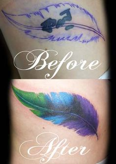 Thinking of this for my wrist as a cover up. Have to keep letting go and moving forward. Black and grey feather.