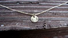 Tiny Deer Antlers Necklace Stamped Design by BellaDonnaJewelryCo