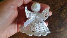 Crochet Christmas Decorations, Christmas Crochet Patterns, Angel Ornaments, Macrame, Diy And Crafts, Knitting, Flowers, Appliques, Amigurumi