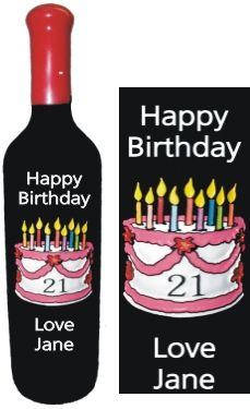 #21st Birthday Gift, or any other birthday can be celebrated with this design