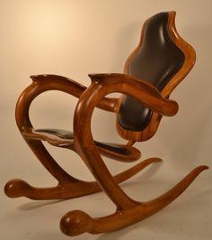 Charmant Organic Modern Rocking Chair Signed Sterling Johnson King