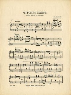 Gorgeous Halloween Sheet Music