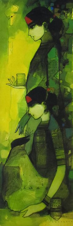 Untitled - Painting by Sachin Sagare