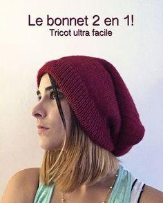 Envie de se mettre au tricot? Réalisez ce bonnet 2 en 1 en un clin d'oeil. Il se transforme en snood, à adapter selon vos envies!
