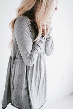 Grey tee dress.
