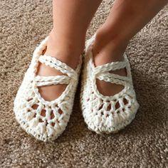 white #crochet sandals