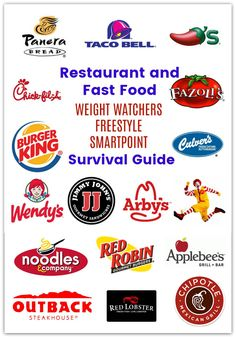 Restaurant and Fast Food Survival guide with Weight Watcher Smart Points! These … Restaurant and Fast Food Survival guide with Weight Watcher Smart Points! These are all 10 SP or less! List has been updated since the Freestyle program! Weight Watchers Tipps, Weight Watchers Smart Points, Weight Watchers Free, Weight Watchers Meals, Weight Watchers Restaurant Points, Weight Watcher Snacks, Weight Watchers Program, Freestyle, Lunch Healthy