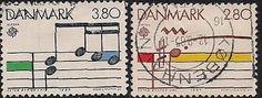 Denmark 1985 - Postage Stamps of EUROPA85: Musical scores