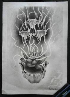 Spirit Skull  Lápis sobre papel