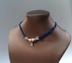 Blue Collar adjustable star by yotoko on Etsy