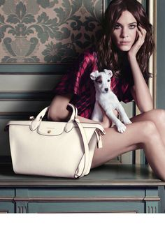 Alexa Chung stuns in the new Longchamp fall ads. See all the photos now!