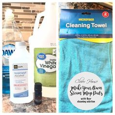 I'm already in Spring cleaning mode so I've been cleaning like a mad woman lately! We bought a Swiffer Bissell Steamboost Mop recently and. Diy Cleaning Products, Cleaning Solutions, Cleaning Hacks, Cleaning Recipes, Cleaning Supplies, Mop Solution, Bissell Steam Mop, Mop Pads, Disinfecting Wipes