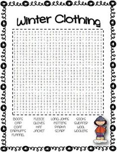 French Christmas Vocabulary Words And Word Search On Pinterest