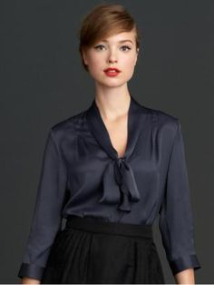 Mad Women    Part of Banana Republic's Mad Men collection, this blouse is feminine and alluring—but still office-appropriate. A dash of red lipstick completes the retro vibe.         Banana Republic blouse, $90; bananarepublic.com