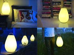 'Luau' er en genopladelig lampe, som du kan flytte rundt som det passer dig. Designet af Vessel, h 37 x dia 23 cm., 1.799 kr., rifraf.dk