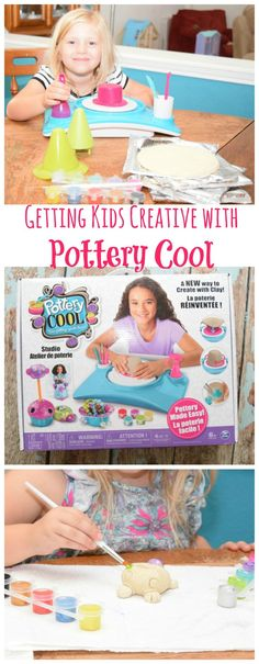 Do you kids love crafts like mine? Then this is the perfect gift! They'll love using a real pottery wheel to make easy crafts! #Pottery Cool from @spin_master #ad