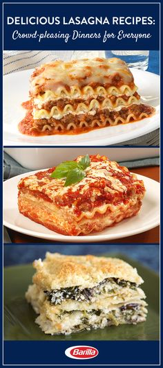 Visit the Barilla.com lasagna library for our collection of easy family-friendly recipes. There is something for everyone from vegetarians to meat-lovers.