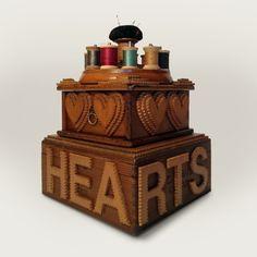 tramp art sewing box