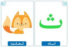 ث Arabic Alphabet Letters, Arabic Alphabet For Kids, Learning Arabic, Kids Learning, Learn Arabic Online, Arabic Phrases, Eid Cards, Love Posters, Arabic Language