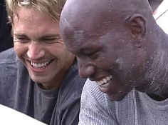 Paul Walker and his best friend,  Tyrese Gibson.  R. I. P.  Paul Walker.  You're legacy will never stop.